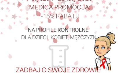 PROMOCJA: – 15% RABATU na profile kontrolne dla dzieci, kobiet i mężczyzn